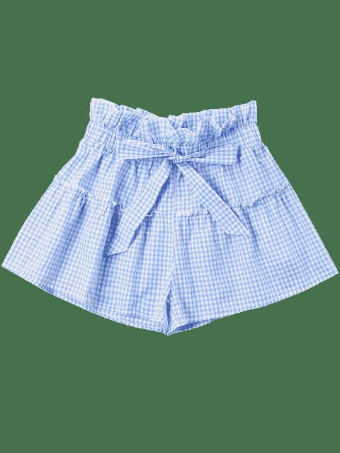 Short Nœud Papillon en Vichy - Bleu Ciel M Mobile