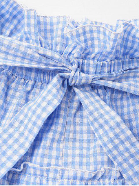 Short Nœud Papillon en Vichy - Bleu Ciel S Mobile