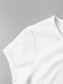 Camiseta Botones A Con M Presi 243;n Blanco rrwCx