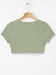 L Verde Cuello Camiseta De Abotonado Con Iguana xCqAwYpB