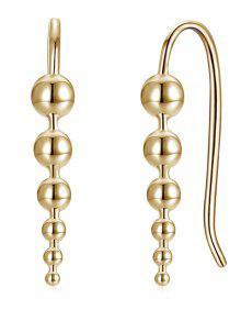 فريدة من نوعها كرات طويلة قلادة هوك الأقراط - الشمبانيا الذهب