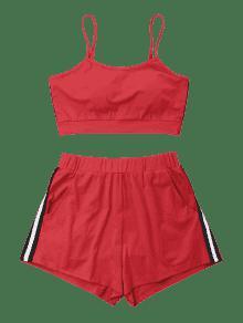 Top Bomberos De Conjunto Y De De De Rojo Cami Shorts Cami M Contraste 243;n xffA7
