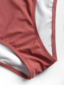 243;n De Bikini Rayas De Lim 2x Cintura Alta Estampado De Con Finch Rosa 1xZnz10w