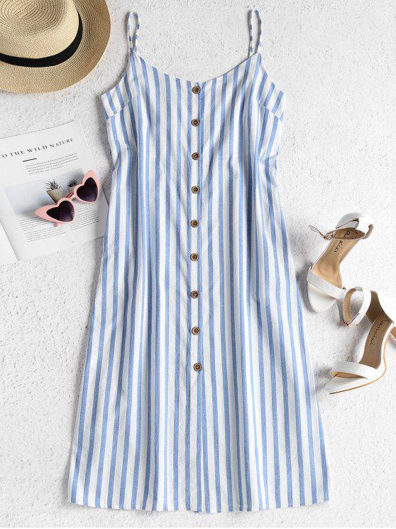 622f09039ad 69% OFF  2019 Striped Button Front Cami Midi Dress In SKY BLUE M