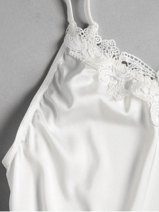 White Top Tap And M Shorts Pajama Cami Set Satin Bg0qwR