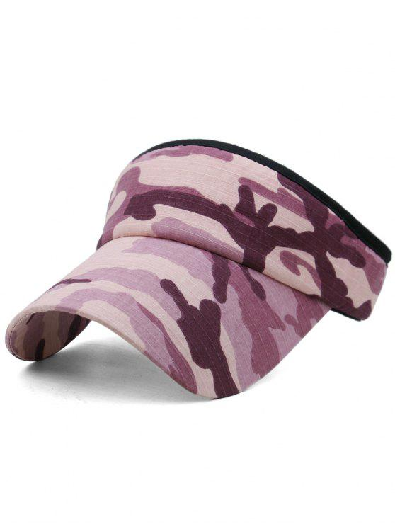 women Camouflage Printed Open Top Sunscreen Hat - MULTI-A