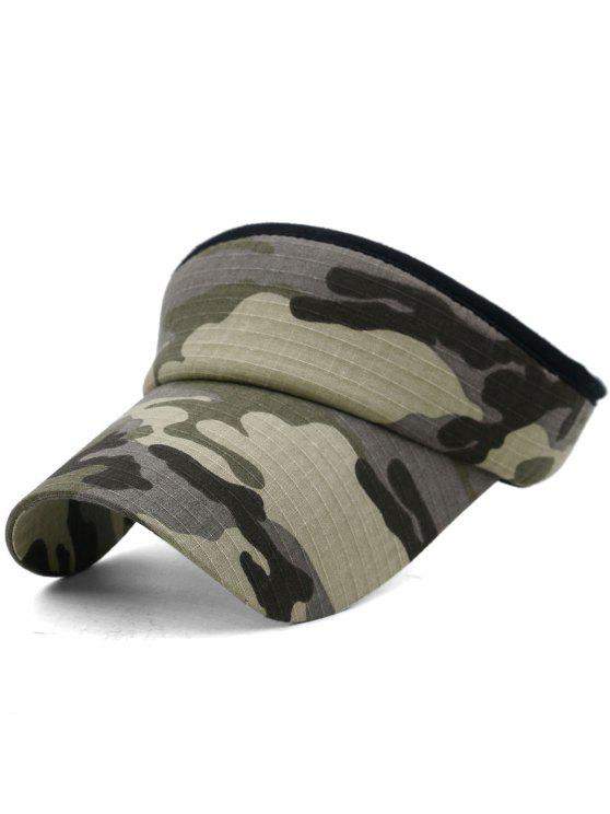 Camouflage bedruckter Open Top Sonnenschutz Hut - Multi-D