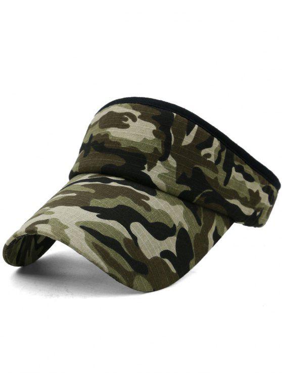 Camouflage bedruckter Open Top Sonnenschutz Hut - Multi-F