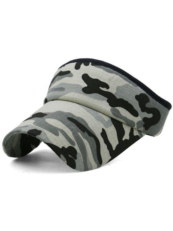 hot Camouflage Printed Open Top Sunscreen Hat - MULTI-E