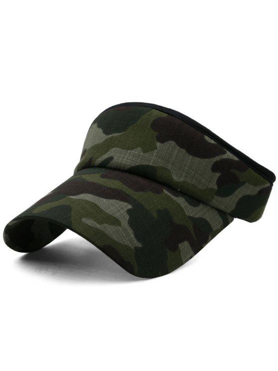 Camouflage bedruckter Open Top Sonnenschutz Hut - Multi-H