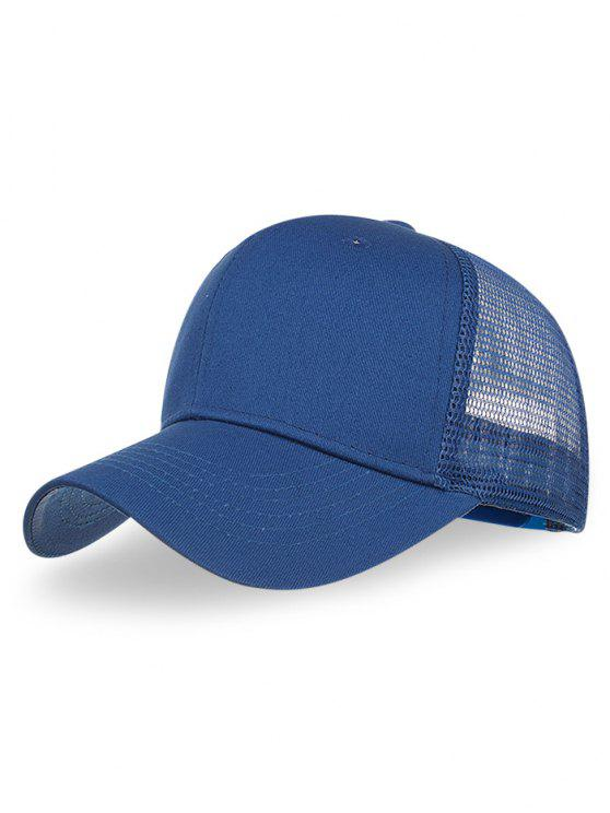fancy Outdoor Solid Color Mesh Hunting Hat - ROYAL BLUE