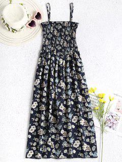 Floral Smocked Cami Dress - Midnight Blue