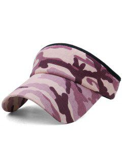 Camouflage Printed Open Top Sunscreen Hat - Multi-a