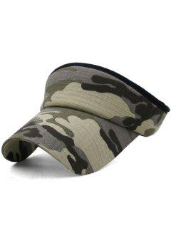 Camouflage Printed Open Top Sunscreen Hat - Multi-d