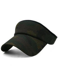 Camouflage Printed Open Top Sunscreen Hat - Multi-g