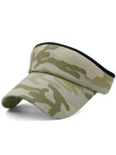 Camouflage Printed Open Top Sunscreen Hat - Multi-c