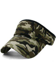 Camouflage Printed Open Top Sunscreen Hat - Multi-f