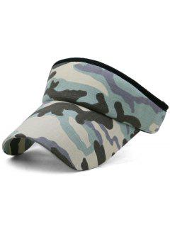 Camouflage Printed Open Top Sunscreen Hat - Multi-b