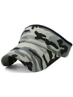 Camouflage Printed Open Top Sunscreen Hat - Multi-e