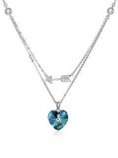 Rhinestone Flecha Cristal Corazón Boda Colgante Collar - Medusa