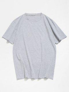 Basic Crew Neck T-Shirt - Gray S