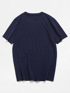 Basic Crew Neck T-Shirt - Deep Blue M