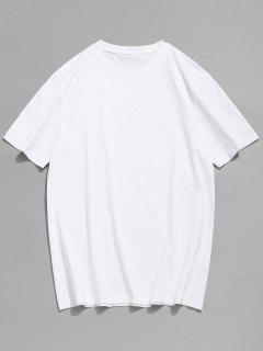 T-shirt De Base à Col Rond - Blanc Xl