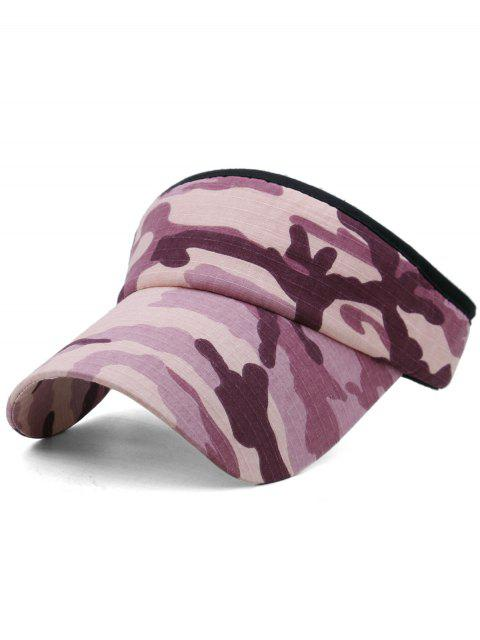 women Camouflage Printed Open Top Sunscreen Hat - MULTI-A  Mobile