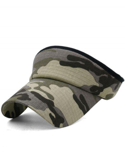 women's Camouflage Printed Open Top Sunscreen Hat - MULTI-D  Mobile