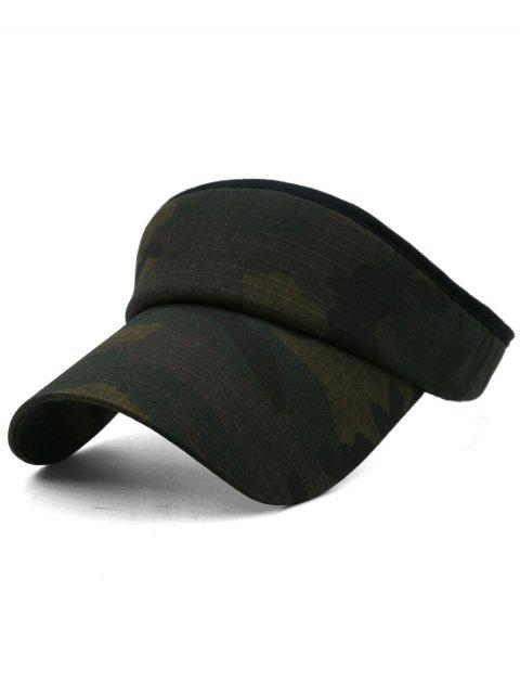 ladies Camouflage Printed Open Top Sunscreen Hat - MULTI-G  Mobile