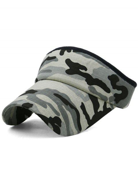 hot Camouflage Printed Open Top Sunscreen Hat - MULTI-E  Mobile