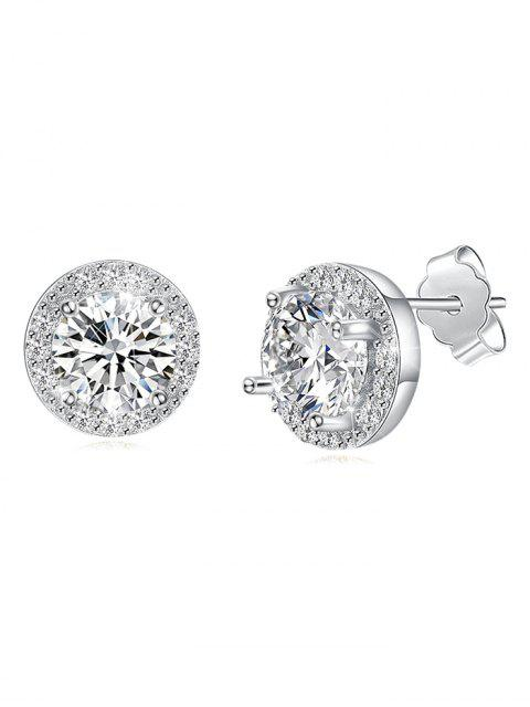 shops Unique Rhinestone Inlaid Wedding Party Earrings - MULTI-A  Mobile