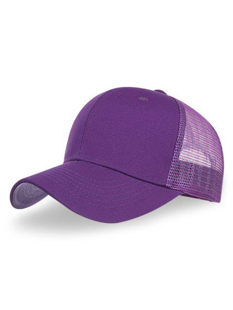 new Outdoor Solid Color Mesh Hunting Hat - PURPLE  Mobile