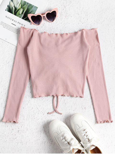 chic Gathered Off Shoulder Top - FLAMINGO PINK M Mobile