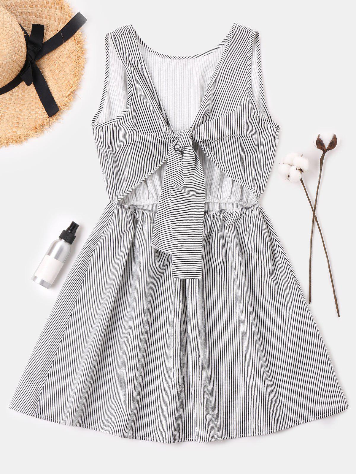 Tie Front Striped Dres