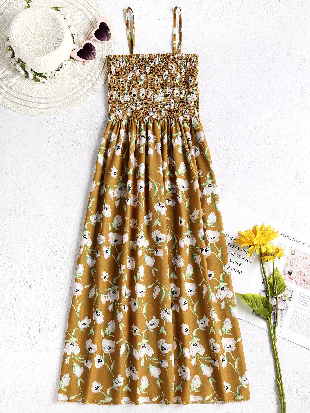 Floral Smocked Cami Dress 270300602