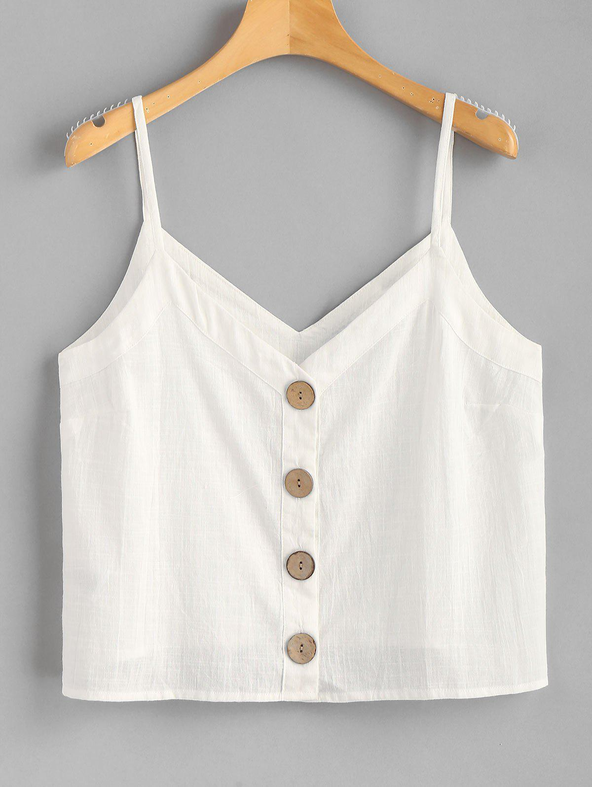 Button Up Woven Cami T