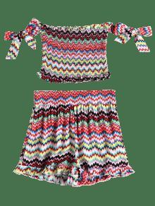 Conjunto Nudos Cortos De Multicolor Anudados Zag Zig Pantalones L Con FXxFPqwrU