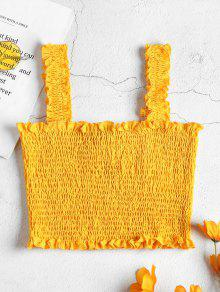 Smocked Crop Tank Top - نحلة صفراء L
