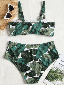 Palma Talla Bikini Verde Grande De Conjunto 1x Bosque De De De De Hojas xHwf1qX