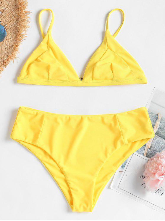 hot Cami Bralette Bikini - RUBBER DUCKY YELLOW M