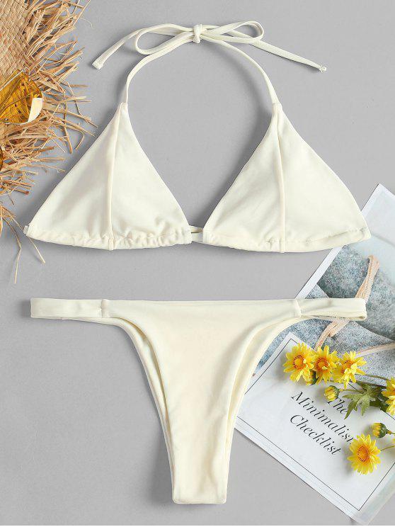 Bikini string atado halter - Blanco Cálido L