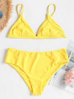 Cami Bralette Bikini - Niedliches Gummi Gelb S