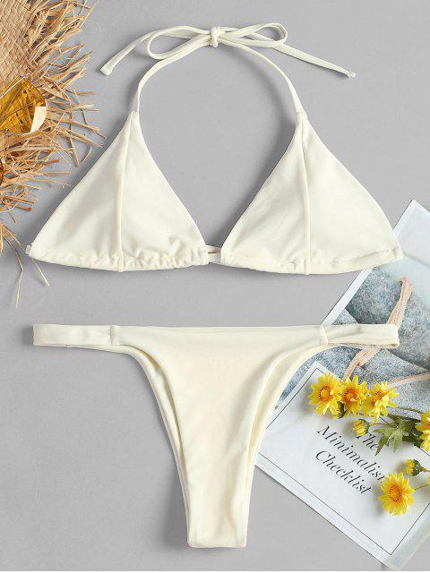 Bikini string atado halter - Blanco Cálido L Mobile