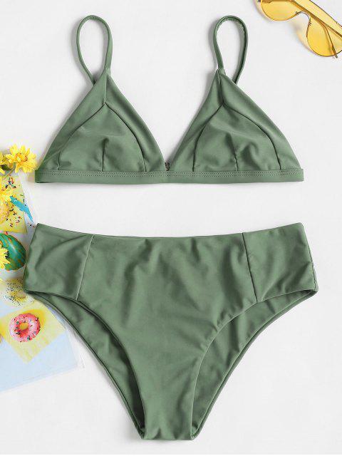 Bikini Cami Bralette - Verde Marrón Claro M Mobile