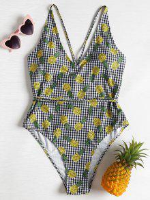 القماش القطني النفس الأناناس بالاضافة الى حجم ملابس السباحة - متعدد L
