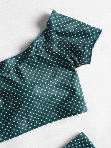 Talle Verde L Con De De Mar Alto Bikini De Dibujo Hombro Bwqgf57W