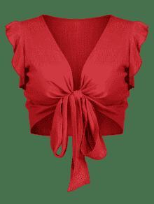Volantes o Casta Anudados Top Con Xl Rojo SqAOww