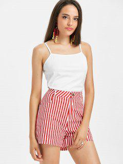 Cami Top And Striped Shorts Two Piece Set - Multi M
