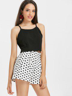 Scalloped Hem Cami Top - Black S